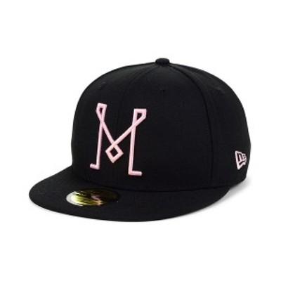ニューエラ メンズ 帽子 アクセサリー Inter Miami Core 59FIFTY Fitted Cap Black