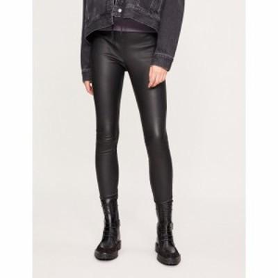 リース REISS レディース ボトムス・パンツ レザーレギンス Valerie leather leggings BLACK