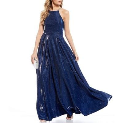 シティヴァイブ レディース ワンピース トップス Sleeveless High-Neck Shimmer Shine Ballgown