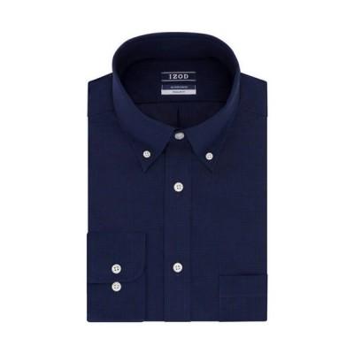 アイゾッド メンズ シャツ トップス Regular Stretch Tonal Check Dress Shirt