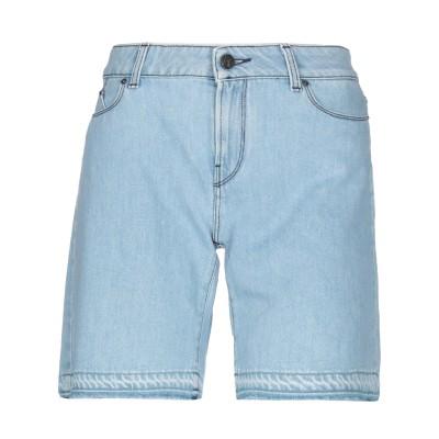 カールラガーフェルド KARL LAGERFELD デニムショートパンツ ブルー 26 コットン 100% デニムショートパンツ