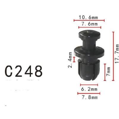 プッシュ リベット 90657S0003  ホンダ系 パネル用 PF-C248 10個 , 納期4日程度