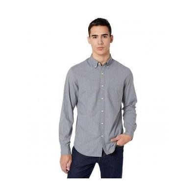 J.Crew メンズ 男性用 ファッション ボタンシャツ Slim Stretch Secret Wash Shirt in Heathered Organic Cotton - Smoky Slate