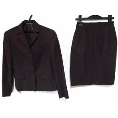 ニューヨーカー NEW YORKER スカートスーツ サイズ9 M レディース ダークブラウン【中古】20200628