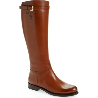 プラダ PRADA レディース ブーツ ロングブーツ シューズ・靴 Novo Knee High Boot Cognac