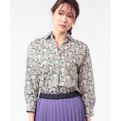 <OLD ENGLAND(Women)/オールドイングランド> リバティプリントシャツ ブルー【三越伊勢丹/公式】
