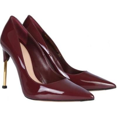 アレキサンダー マックイーン Alexander McQueen レディース パンプス シューズ・靴 Burgundy Patent Leather Pumps w/Metal Heel Bordeaux