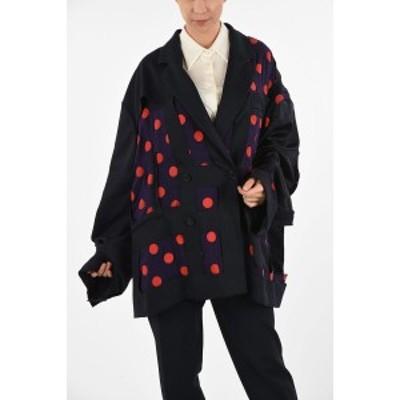 MAISON MARGIELA/メゾン マルジェラ Blue レディース MM1 Polka Dots Oversize Silk Double Breasted Blazer dk