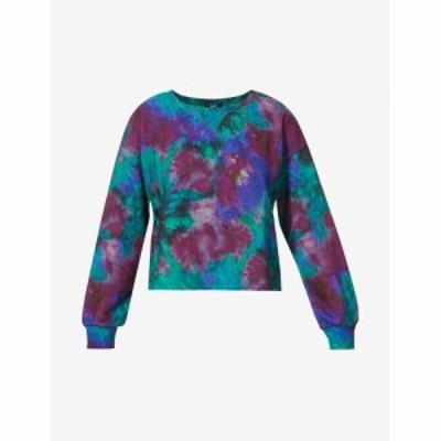 ペイジ PAIGE レディース スウェット・トレーナー トップス Raeanna tie-dye cotton-blend sweatshirt AURORA