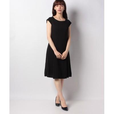 【ミス ジェイ】 ドビークロス フレンチスリーブ ドレス レディース ブラック 40 MISS J