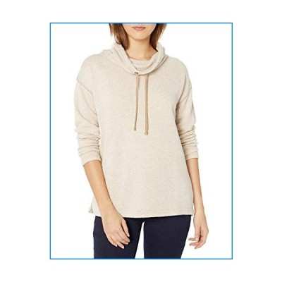 Chaps Women's Petite Pull Over Cowl Neck Long Sleeve Sweater, Camel Multi, PM【並行輸入品】