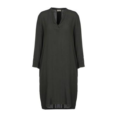 HER SHIRT ミニワンピース&ドレス ダークグリーン S レーヨン 60% / シルク 40% ミニワンピース&ドレス
