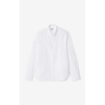 <KENZO (Men)/ケンゾー> シャツ Happy Tiger Crest Oxford Shirt FA65CH4001LD 01シロ【三越伊勢丹/公式】