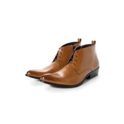 ジーノ Zeeno ビジネスシューズ メンズ ブーツ チャッカーブーツ 脚長 ショートブーツ ドレスシューズ 革靴 メンズブーツ 紳士靴 靴 レースア