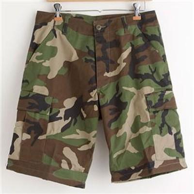 アメリカ軍 BDU カーゴショートパンツ/迷彩服パンツ 【Sサイズ】 ウッドランド 【レプリカ】