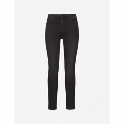 ホイッスルズ WHISTLES レディース ジーンズ・デニム ボトムス・パンツ Sculpted high-rise stretch-denim jeans Black
