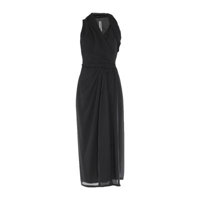 リック オウエンス RICK OWENS 7分丈ワンピース・ドレス ブラック 38 シルク 100% 7分丈ワンピース・ドレス