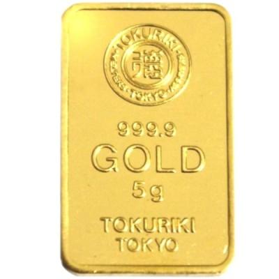 純金 インゴット 24金 徳力 5g K24 TOKURIKI INGOT 公式国際ブランド グッドデリバリー バー ゴールド バー 送料無料