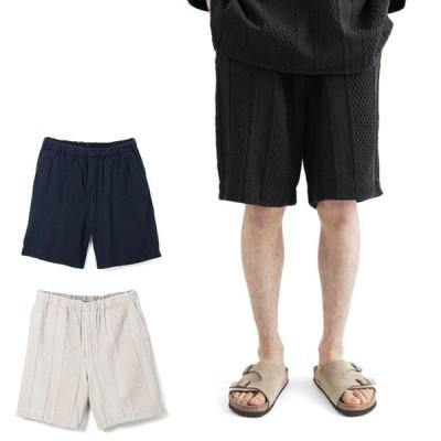 WE WILL ウィーウィル ジャガード イージーショーツ W-008-8002 ショートパンツ メンズ