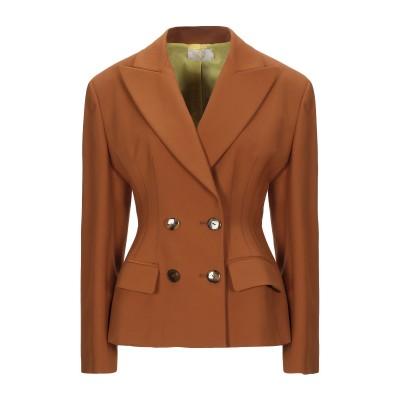サラ・バッタグリア SARA BATTAGLIA テーラードジャケット ブラウン 40 コットン 53% / ナイロン 37% / ポリウレタン 1