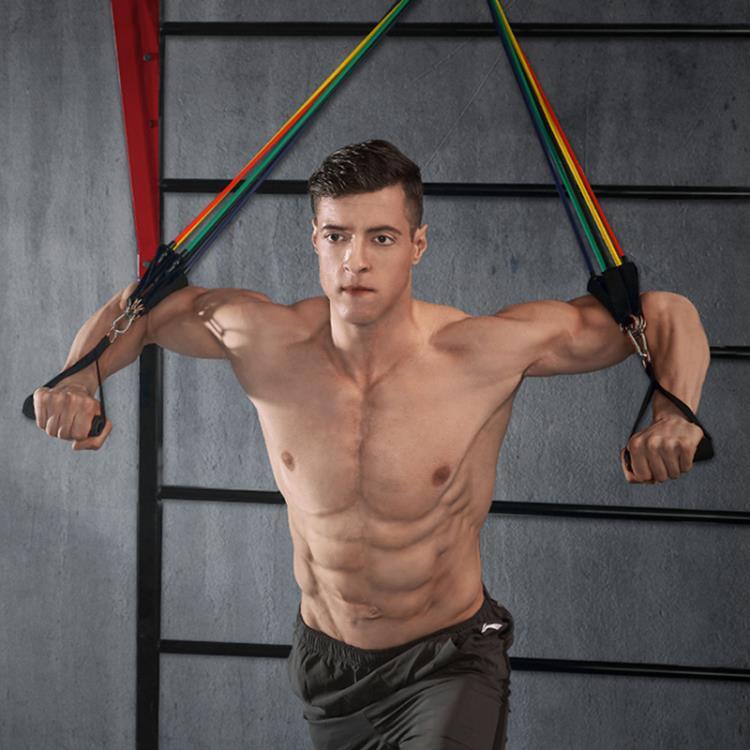 拉力器彈力繩健身男彈力帶胸肌訓練器材拉力帶阻力帶健身器材家用拉力繩【快速出貨】