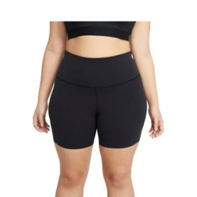 """ナイキ レディース ハーフパンツ・ショーツ ボトムス The Yoga Lux 7"""" Shorts (Sizes 1X-3X) Black/Dark Smok"""