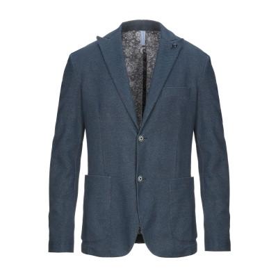 HARMONT&BLAINE テーラードジャケット ダークブルー 46 コットン 100% テーラードジャケット