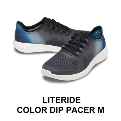 【クロックス crocs メンズ S】LiteRide Color Dip Pacer Ms/ライトライド カラーディップ ペイサー メン/ブラックxオールモストホワイト