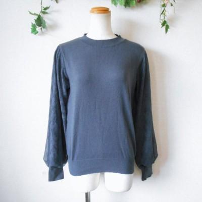 テチチ Te' chichi 秋冬春 レディース 用 お袖 切替 の 可愛い ニット セーター F