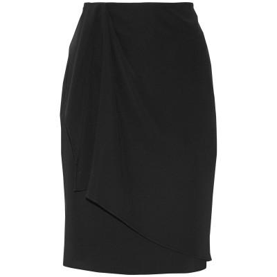 バハ イースト BAJA EAST ひざ丈スカート ブラック 1 トリアセテート 86% / ポリエステル 14% ひざ丈スカート