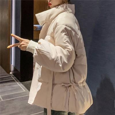 中綿ジャケット レディース 中綿コート ジップアップコート 無地ジャケット 厚手 暖かい 防風 防寒着 デイリーユーズ 冬服 冬物 送料無料