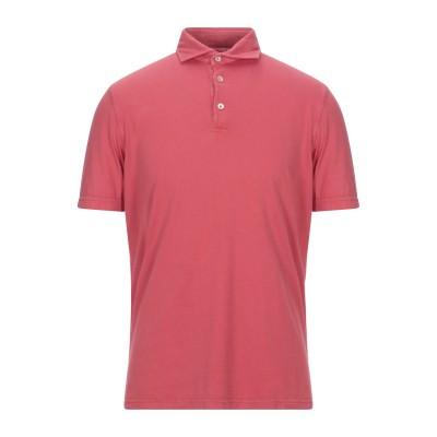 FEDELI ポロシャツ レッド 50 コットン 100% ポロシャツ