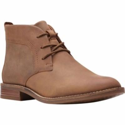 クラークス Clarks レディース ブーツ チャッカブーツ シューズ・靴 Camzin Grace Chukka Boot Dark Tan Leather