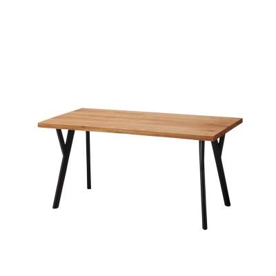 【大型商品送料無料】天然木オーク材のデザイン脚ダイニングテーブル<4人用/6人用>