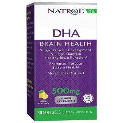 【Natrol】 ナトロール DHA 500 mg Super Strength 30Softgels
