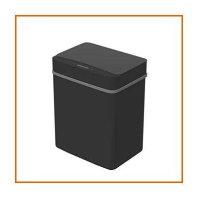 送料無料 Smart Sensor Trash Can Living Room Kitchen with Cover Battery Powered Automatic Trash Can Large Basket,15L (Color : Black)