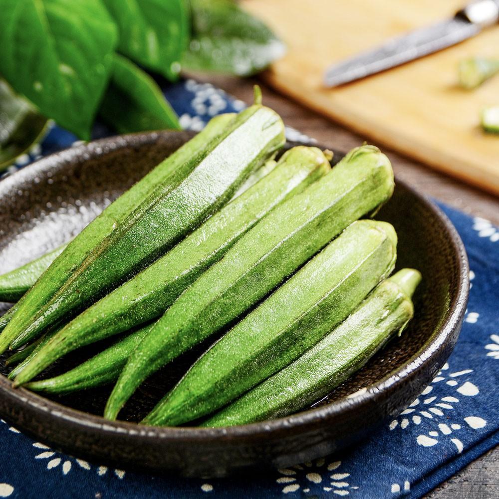蝦皮生鮮 黃秋葵 150g±10% 菜霸子嚴選 假日正常送