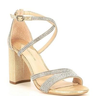 アントニオ メラーニ レディース サンダル シューズ Garlini Rhinestone Embellished Block Heel Dress Sandals