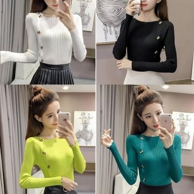 ネオン 色 セーター 4色
