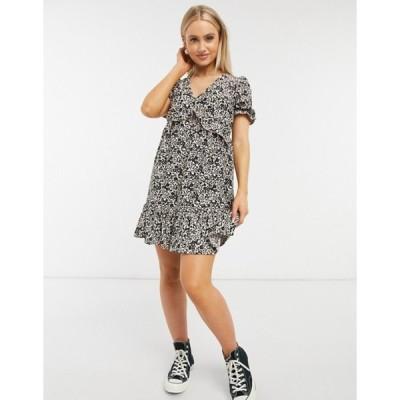 ミスセルフフリッジ レディース ワンピース トップス Miss Selfridge mini tea dress in  animal print
