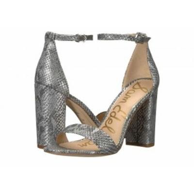 Sam Edelman サムエデルマン レディース 女性用 シューズ 靴 ヒール Yaro Ankle Strap Sandal Heel Soft Silver Tropical【送料無料】