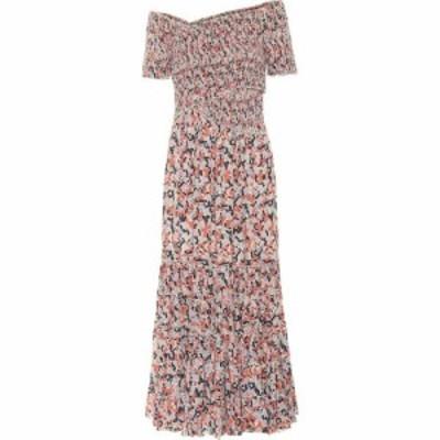 プーペット セント バース Poupette St Barth レディース ワンピース マキシ丈 Exclusive to Mytheresa - Soledad floral maxi dress Blu