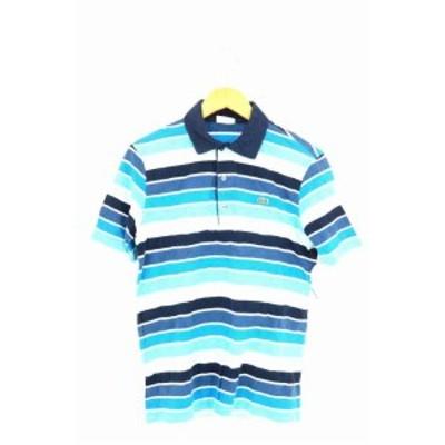ラコステ LACOSTE ポロシャツ サイズ3 メンズ 【中古】【ブランド古着バズストア】