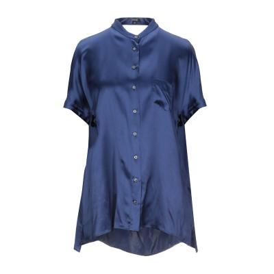 アスペジ ASPESI シャツ ブルー 42 シルク 100% シャツ