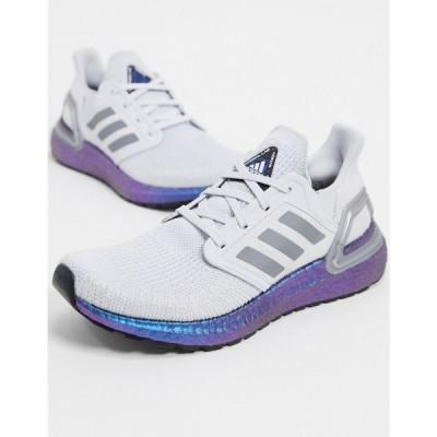 アディダス adidas performance レディース ランニング・ウォーキング シューズ・靴 adidas Running Ultraboost 20 trainers in grey グレー