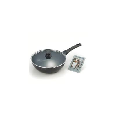 たいめいけん アルミ鋳物炒め鍋 28cm ガラス蓋付 TM-124