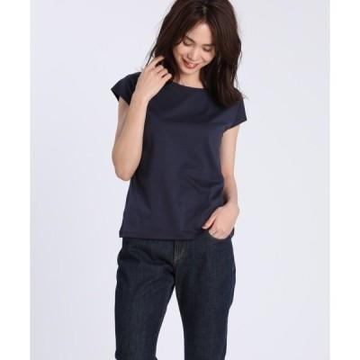 tシャツ Tシャツ フレンチスリーブカットソー《スビン綿Mix天竺》