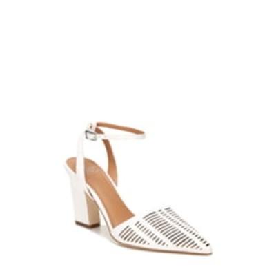 サルトバイフランコサルト レディース パンプス シューズ Starla Leather Perforated Ankle Strap Pump WHITE