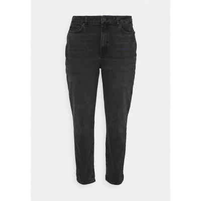 イーブン アンド オド デニムパンツ レディース ボトムス Slim fit jeans - black denim