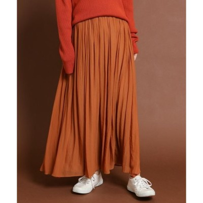 スカート 楊柳マキシスカート